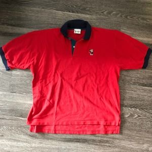 Vintage Disney Mickey Mouse Golf Polo Shirt